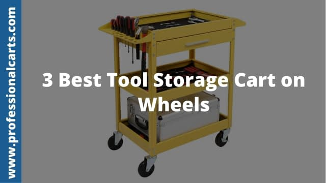 ProfessionalCarts - 3 Best Tool Storage Cart on Wheels