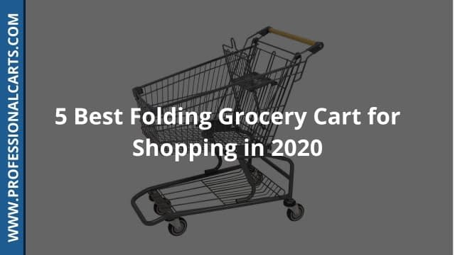 ProfessionalCarts-5 Best Folding Carts for Grocery Shopping in 2020