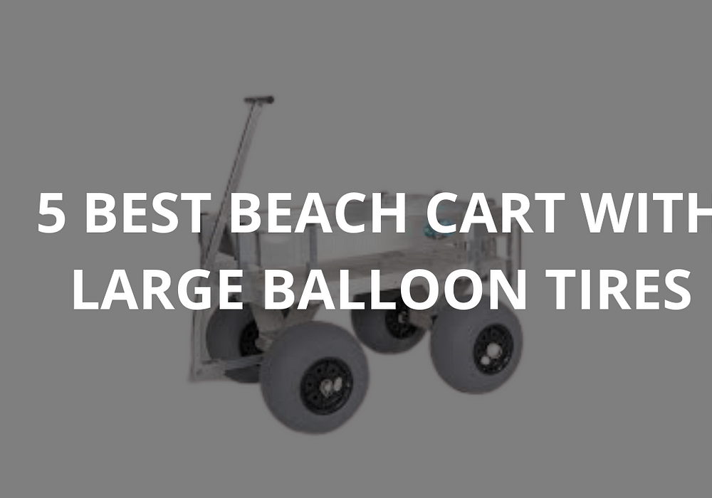 5 Best Beach Carts With Large Balloon Tires