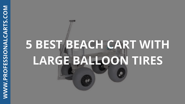 ProfessionalCarts -5 Best Beach Cart With Large Balloon Tires