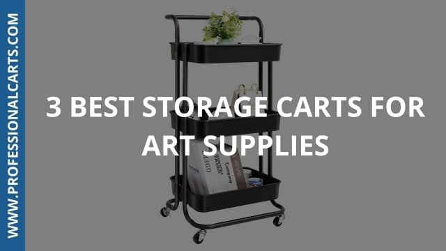 ProfessionalCarts - 3 Best Storage Carts For Art Supplies