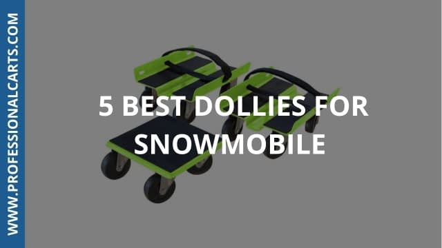 ProfessionalCarts - 5 Best Dollies For Snowmobile