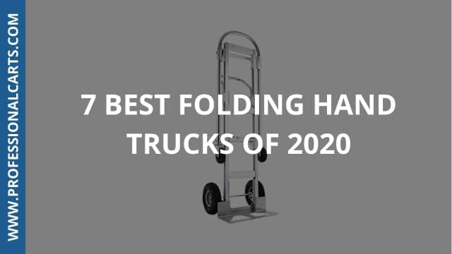 ProfessionalCarts - 7 Best Folding Hand Trucks Of 2020