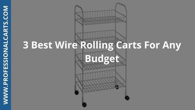 ProfessionalCarts- 3 Best Wire Rolling Carts For Any Budget