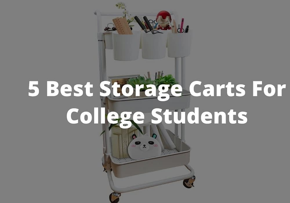 5 Best Storage Carts For College Students