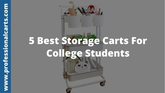 ProfessionalCarts - Best Storage Carts For College Students